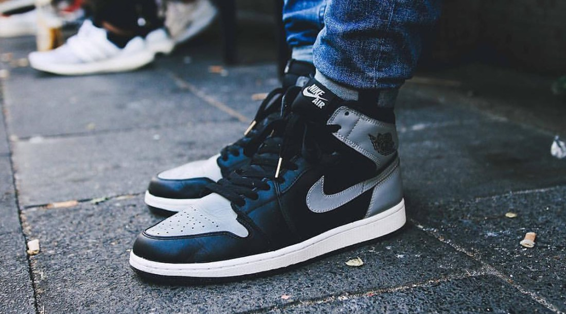Air Jordan 1 Shadow On Foot