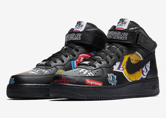 Supreme x Nike Air Force 1 NBA