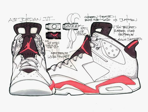 07185ca837f Pin It Sketch of the White Infrareds. All the Air Jordan 6 ...