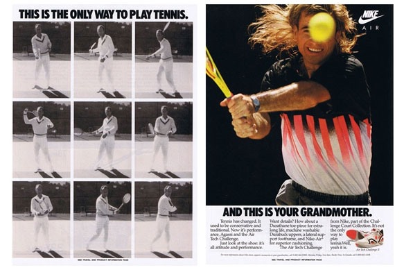 Andre Agassi Hot Lava Air Tech Challenge Ad