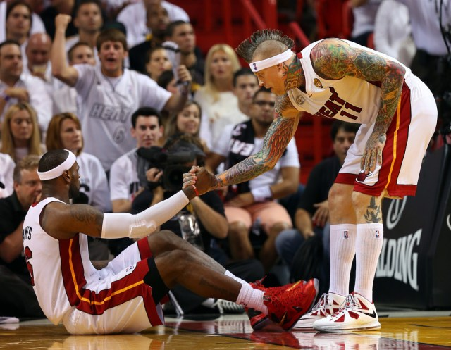 Bird Man Chris Andersen in the Nike LeBron X
