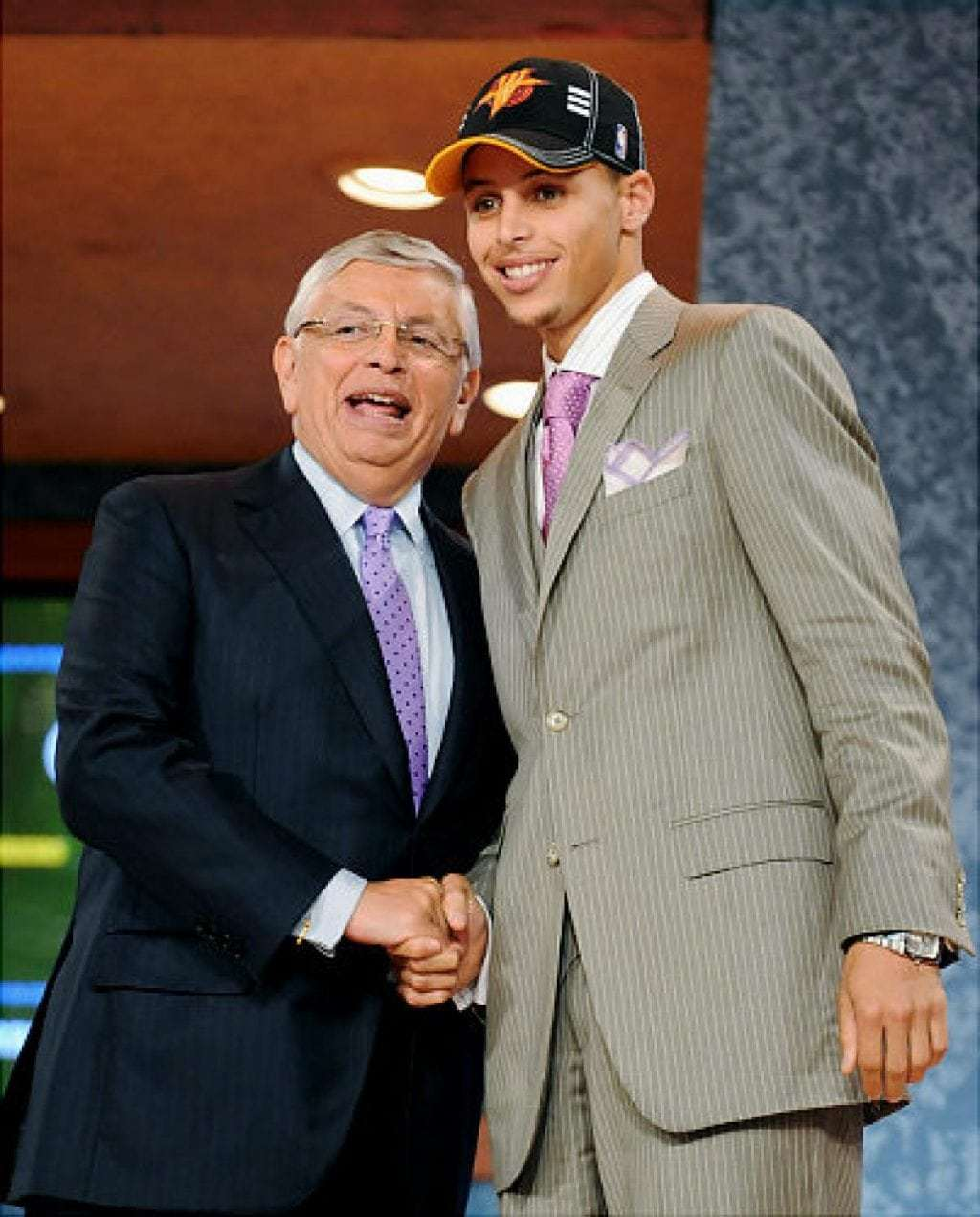 Stephen Curry being drafted