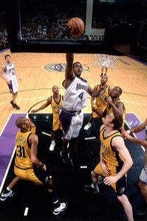 Chris Webber scores a career high 51 points against the Indiana Pacers on January 5, 2001.