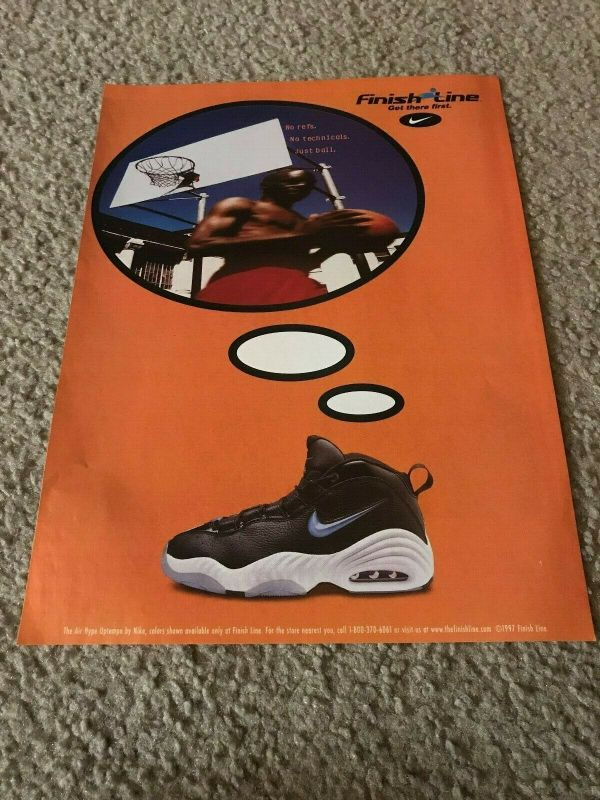 Vintage Sneaker Print Ad 1997 - Nike Air Hype Uptempo