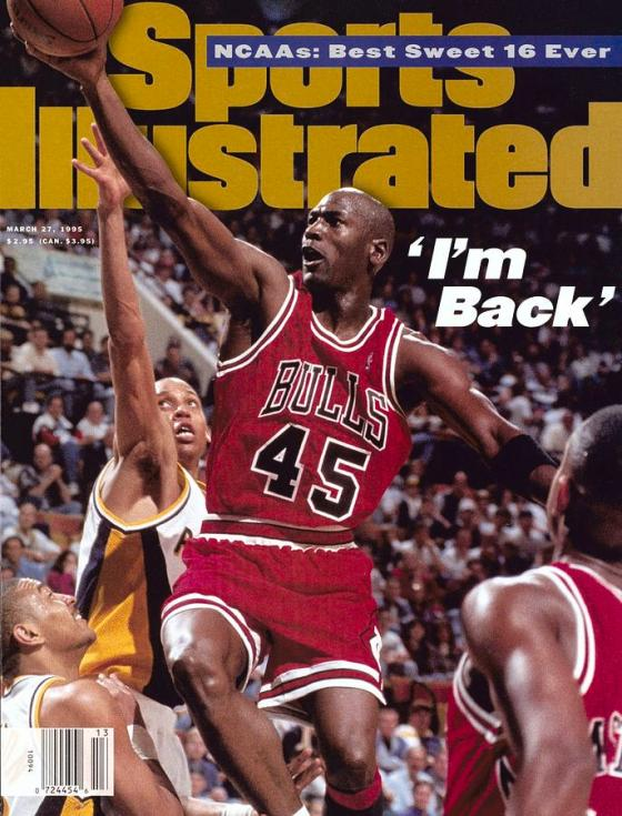 Michael Jordan Sports Illustrated Cover March 27, 1995
