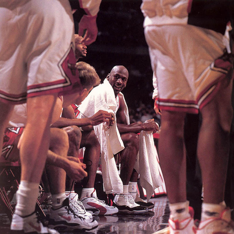 Michael Jordan in the Air Jordan 11 Concords