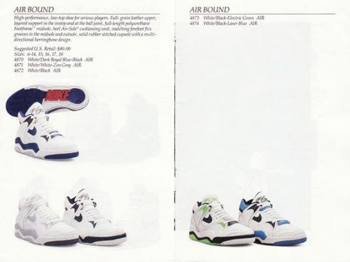 Nike Air Bound - 1990 Nike Basketball Catalog