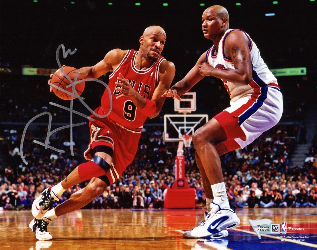 Ron Harper in the Nike Air Lambaste
