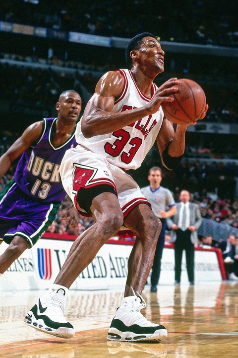 Scottie Pippen in the Nike Air Max Uptempo 95