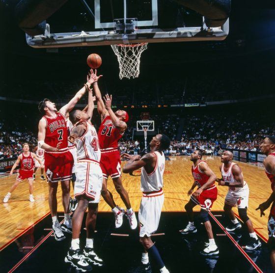 Toni Kukoc in the Nike Air Max Uptempo 95