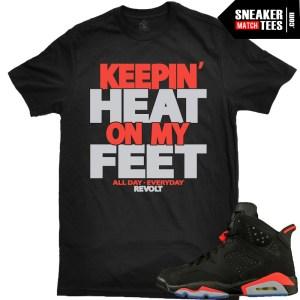 Jordan 6 Infrared matching sneaker tee shirts and clothing discounts