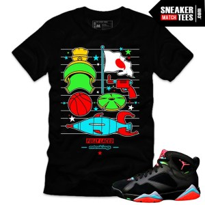 Jordan 7 Marvin the Martian shirts sneaker tees matching marvin martian 7s streetwear online shopping karmaloop new jordans
