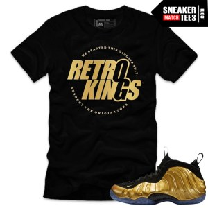 Gold Foamposite one nike shirts matching sneaker tees shirts gold foamposite one streetwear karmaloop
