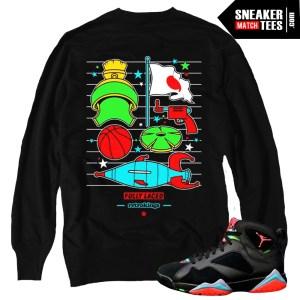Martian Grid Crewneck Black  Streetwear Online