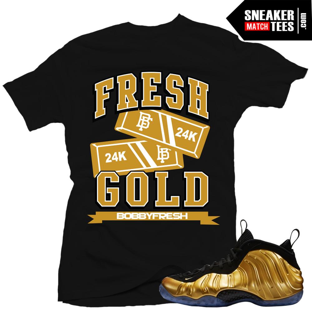 nike shirts gold