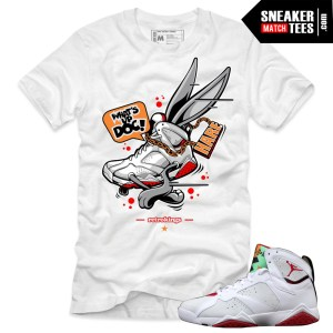 Jordan 7 Hare shirts to match Jordan 7 shirts