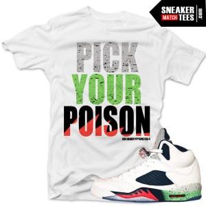 1364a16d526dee Poison Green 5s shirts to match Jordan 5 Poison Green