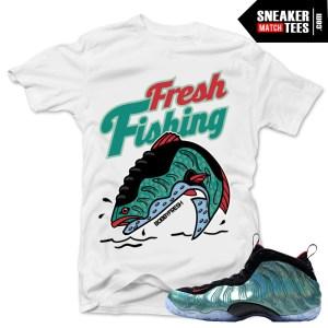 Nike Foamposite Gone Fishing shirt to match