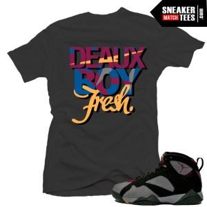 Jordan 7 bordeaux shirt to match