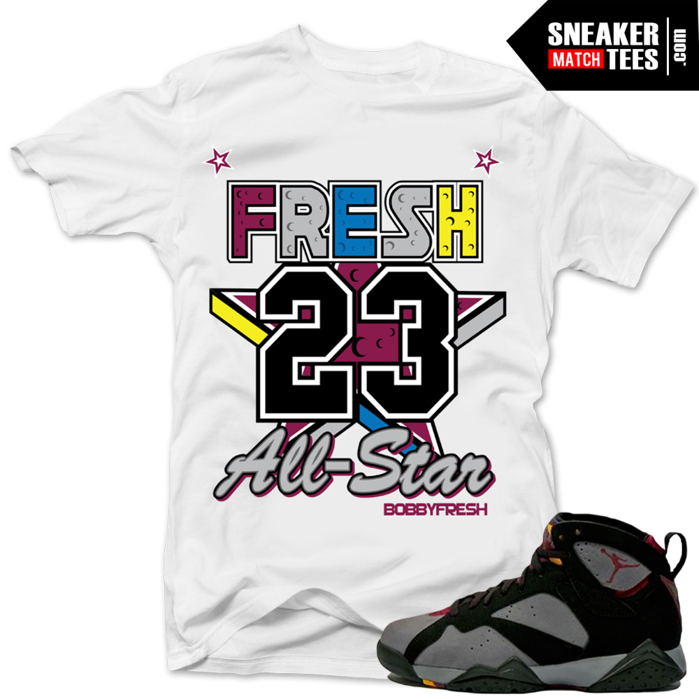 separation shoes 02283 e6511 shirts to match jordan 7 bordeaux 7s sneaker match tee shirts