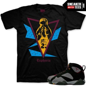 Jordan Retro 7 Bordeaux t shirt match sneakers