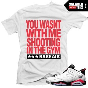 white infrared 6s low matching shirt