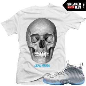 Wolf Grey Foamposite sneakers match t shirt sneaker news kicks on fire