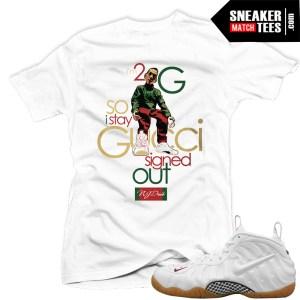Gucci Foams white matching t shirts