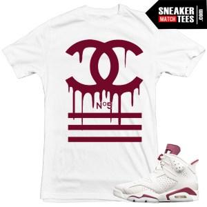designer-shirt-to-match-Jordan-6-Maroon-Sneaker-tees