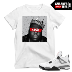 Jordan 4 Cement matching Sneaker tees Shirts