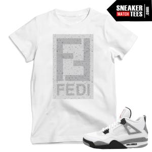 Cement 4 Jordan t shirts sneaker tees match