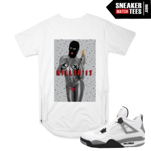 White Cement 4 Jordan matching clothing tshirts