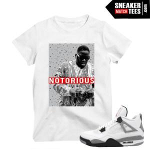 White Cement 4 Jordans Notorious Big t shirt