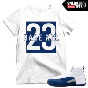 French Blue 12 matching t shirts for sneakers