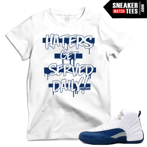 Match french blue 12s t shirts sneaker match tees for French blue t shirt