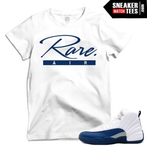 Match Jordans French Blue 12 t shirts