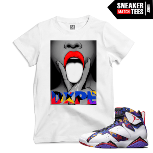 Sweater 7s matching Jordan T shirt