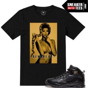 Jordan NYC 10s matching sneaker tee shirts
