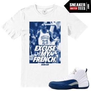 Match Sneaker Tees French Blue 12 Jordans