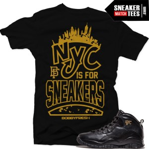 NYC 10s match sneaker tee shirts
