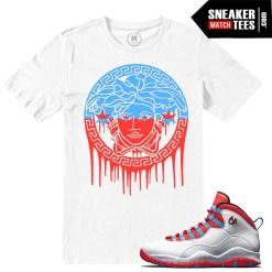 Match Jordan 10 Chicago Flag t shirts