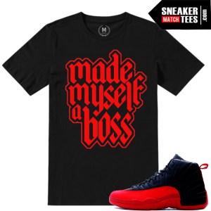 T shirts matching Flu Game 12 Jordans
