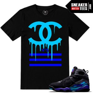 Aqua 8 t shirts match Jordan Retros
