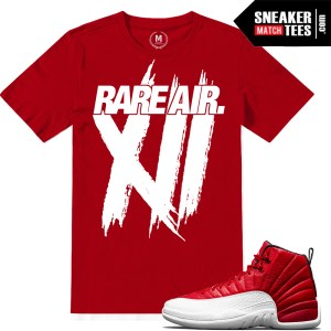 Gym Red t shirts Jordan 12 Match