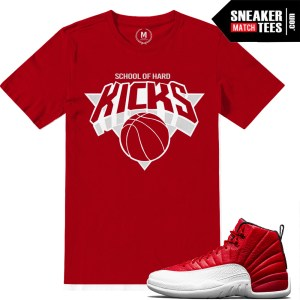 Jordan 12 Gym Red Matching T shirts