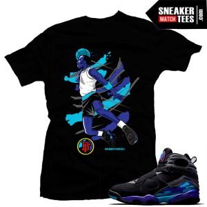 Jordan 8 Aqua Match Sneaker tees