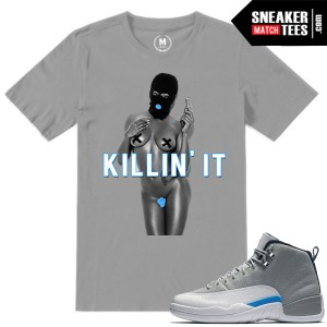 Match Wolf Grey t shirts Jordan 12