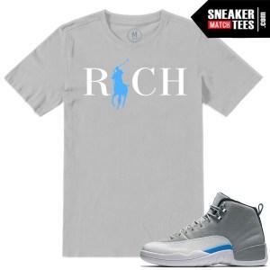 Sneaker tees match Jordan 12 Wolf Grey