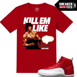 Sneaker shirts match Gym Red 12