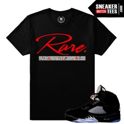 T shirts matching Jordan 5 Metallic Black OG